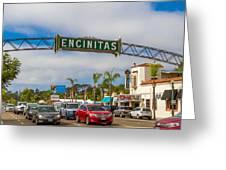 Downtown Encinitas Greeting Card
