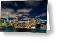 Downtown From Brooklyn Greeting Card