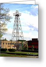 Downtown Gladewater Oil Derrick Greeting Card