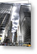 Downtown Hdr Greeting Card