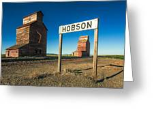 Downtown Hobson, Montana Greeting Card