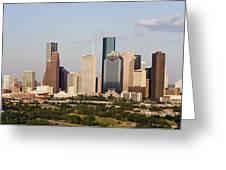 Downtown Houston Skyline Greeting Card