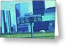Downtown Left 3-4 Mile Greeting Card