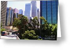 Downtown Los Angeles. 6th Street Greeting Card