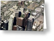 Downtown Los Angeles From Above Greeting Card