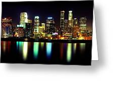 Downtown Los Angeles Reflection Greeting Card