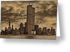 Downtown Manhattan Circa Nineteen Seventy Nine  Greeting Card