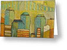 Downtown Manhattan Greeting Card