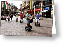 Downtown Milan Greeting Card