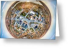 Downtown Mukwonago Little Planet Greeting Card