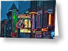 Downtown Nashville At Dusk Greeting Card
