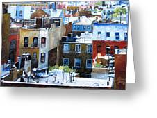 Downtown Nyc Rooftops Greeting Card