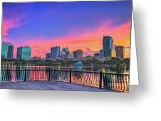 Downtown Orlando Florida  Greeting Card
