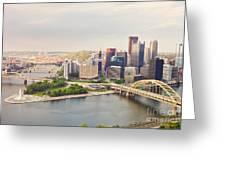 Downtown Pittsburgh Pennsylvania Greeting Card