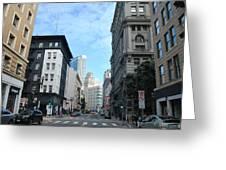 Downtown San Francisco Street Level Greeting Card