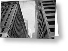 Downtown San Francisco Street View - Black And White 2 Greeting Card