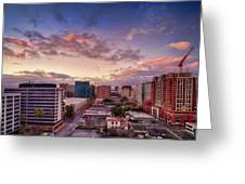 Downtown San Jose From City Heights Greeting Card