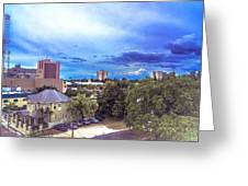 Downtown Skies Greeting Card