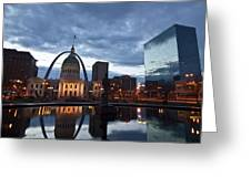 Downtown St. Louis At Dawn Greeting Card
