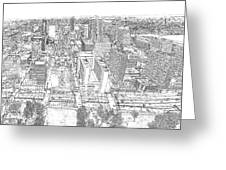 Downtown St. Louis Panorama Sketch Greeting Card