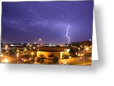 Downtown Storm Greeting Card