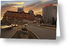 Downtown Sunset Greeting Card by Steven  Michael