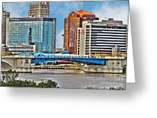 Downtown Toledo Riverfront Greeting Card