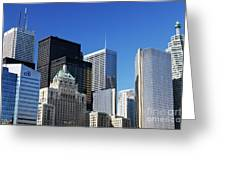 Downtown Toronto Greeting Card