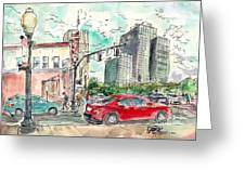 Downtown Tyler, Corner Of Broadway And Erwin May 2018 Greeting Card