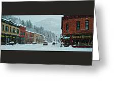 Downtown Wallace In Winter 2017 Greeting Card
