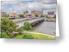 Downtown Waterloo Iowa  Greeting Card