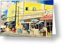 Downtown Wrightsville Beach Greeting Card