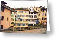 Downtown Zurich Switzerland Greeting Card