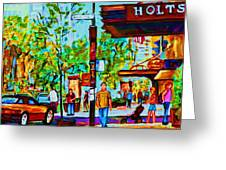Downtowns Popping Greeting Card