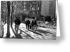 Downtownscape - Black And White Greeting Card