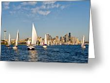 Downtwon Seattle Waterfront Greeting Card