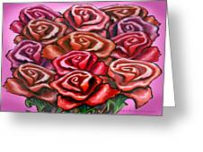 Dozen Roses Greeting Card