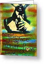 Dr. Cornel West Justice Greeting Card by Tony B Conscious