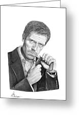 Dr. House  Hugh Laurie Greeting Card