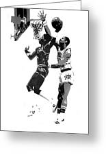 Dr. J And Kareem Greeting Card