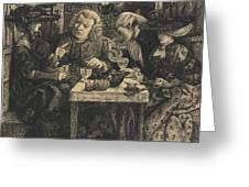 Dr Johnson At The Mitre Greeting Card