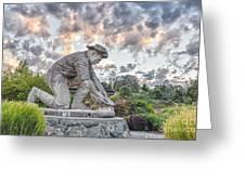 Dr. Kenneth Fox Sculpture Oldtown Auburn Greeting Card