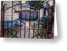 Dr. Lines Gate - Nola Greeting Card