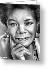 Dr Maya Angelou Greeting Card