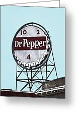 Dr Pepper Landmark Sign Roanoke Virginia Greeting Card
