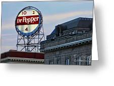 Dr Pepper Sign Greeting Card