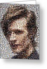 Dr. Who Mosaic Greeting Card by Paul Van Scott