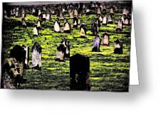 Dracula Cemetery In Whitby England Greeting Card by Jen White
