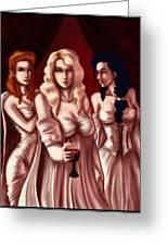 Dracula's Brides Greeting Card