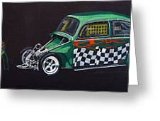 Drag Racing Vw Greeting Card